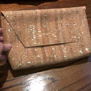 J Crew Cork Clutch Handbag